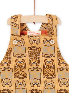 baby boy Mustard Yellow Short Dungarees LUTERSAC / 21SG10V1SACB106
