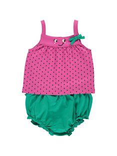 Baby girls' bloomer and vest set CIPLAENS1 / 18SG09Q1ENS099