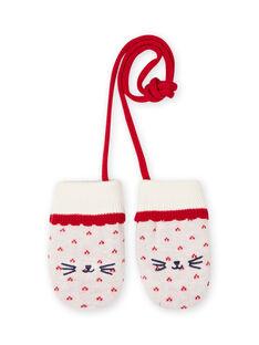 Baby girl jacquard knit mittens MYIMIXGAN / 21WI0951GAN001