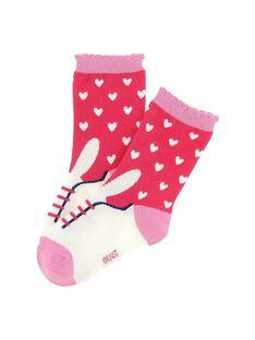 Girls' mid length socks CYAHOCHO / 18SI01E2SOQ099