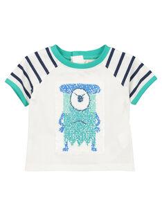 Baby boys' reversible T-shirt FUNETI2 / 19SG10B2TMC000