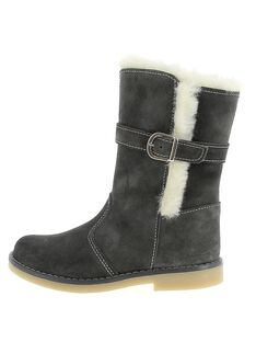 Girls' fur lined leather boots DFBOTTEGRI / 18WK35TCD10940