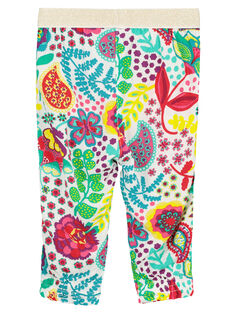 Baby girls' comfy printed trousers FICAPAN / 19SG09D1PAN000