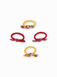 Set of 4 assorted elastic bows for girls MYAJOELA3 / 21WI01S6ELAB106