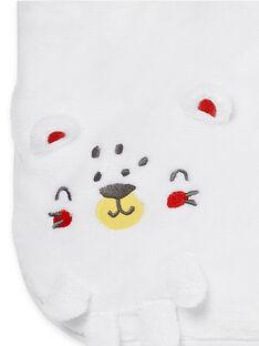 White velvet blanket LOU1COUV / 21SF42H1D4P000