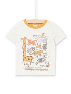 T-shirt sleeves ecru chiné baby boy LUTERTI2 / 21SG10V4TMC006