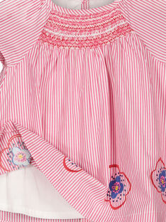 Baby girls' striped dress FICOROB1 / 19SG0981ROB030