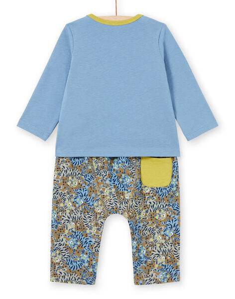 Baby boy's jungle animal T-shirt and pants set MUKAENS / 21WG10I1ENS020