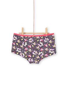 Set of 3 shorts pink, purple and white child girl LEFAHOT6 / 21SH1126SHYJ916