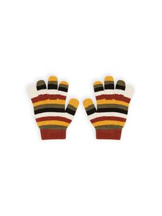 Boy striped gloves MYOGROGAN6 / 21WI0267GAN809
