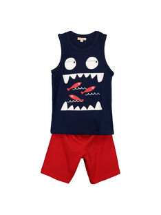 Boys' vest and shorts set FOPLAENS1 / 19S902P1ENS070