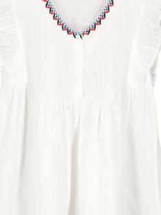 Girls' white embroidered dress FATOROB3 / 19S901L3ROB000
