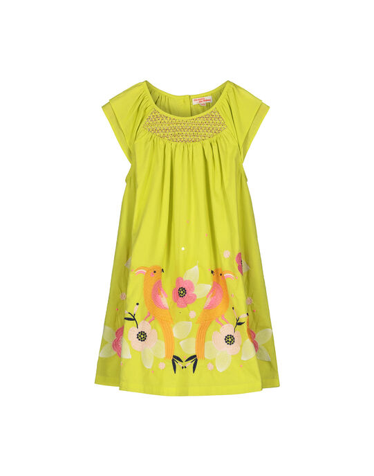 Girls' cotton dress FAPOROB3 / 19S901C3ROB605