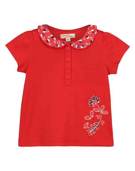 Baby girls' Peter Pan collar T-shirt FITOBRA / 19SG09L1BRA330
