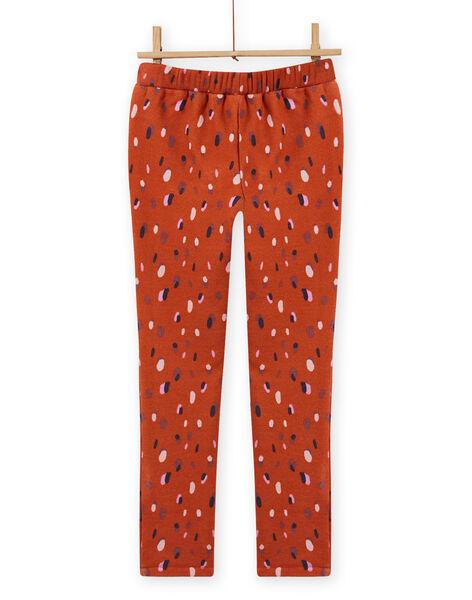 Girl's caramel confetti pants MACOMPANT / 21W901L1PAN420