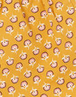 Yellow and pink shorts with floral patterns in cotton child girl LAPOESHORT / 21S901Y1SHO107