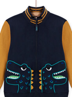 Boy's yellow and navy blue vest MOTUGIL1 / 21W902K1GIL705