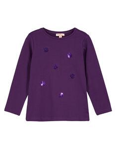 Purple Longsleeve T-SHIRT GAJOTEE5 / 19W901L1D32708