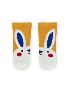 Baby boy's yellow rabbit socks MYUMIXCHO1 / 21WI10J2SOQ117