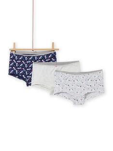 Set of 3 assorted unicorn shortys for girls MEFAHOTLAM / 21WH11C2SHYJ920