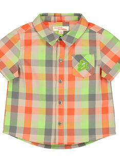 Baby boys' checked shirt FUYECHEM / 19SG10M1CHM099