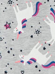 Heather grey jogging pants, unicorn print LAJOBAJOG1 / 21S90141D2A943
