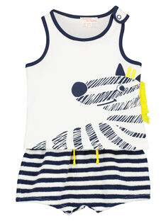 Baby boys' vest and shorts set FUPLAENS2 / 19SG10P2ENS000
