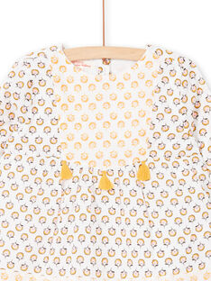 White and yellow blouse with floral print LAPOECHEM / 21S901Y1CHE001