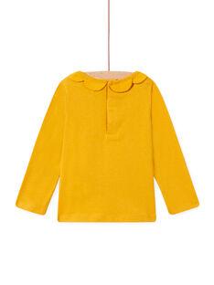 Baby girl saffron t-shirt with petal collar MISAUBRA / 21WG09P1TML109