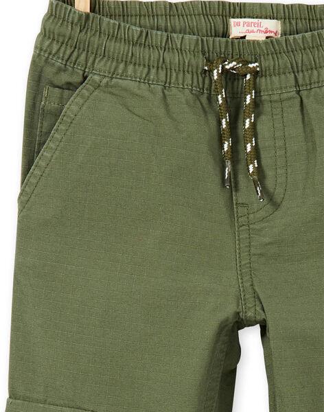 Cargo pants green child boy LOJOPAMAT2 / 21S90242PANG631