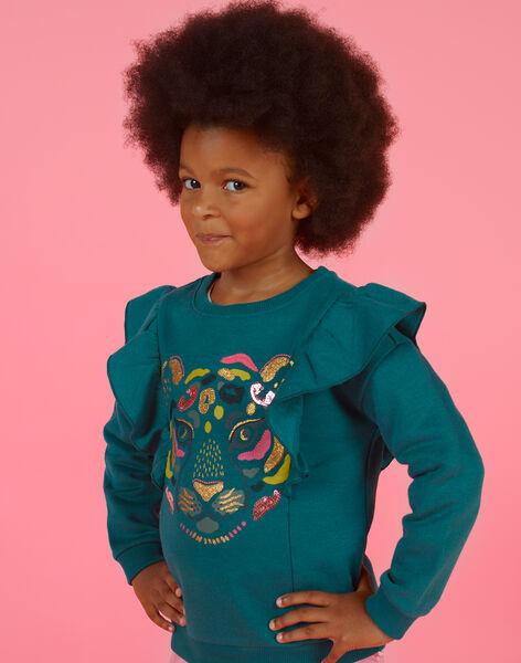 Blue duck sweater child girl MAKASWEA / 21W901I1SWEG633