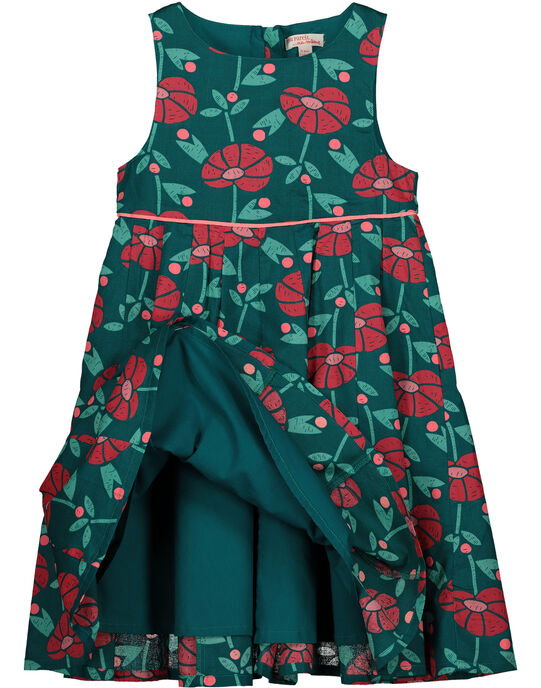 Girls' flowery dress GAVEROB2 / 19W90122ROBG627