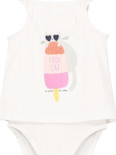 Baby girls' 2 in 1 effect bodysuit FICUBOD / 19SG09N1BOD000