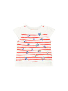 Baby girls' printed short-sleeved T-shirt FITOTI2 / 19SG09L2TMC000