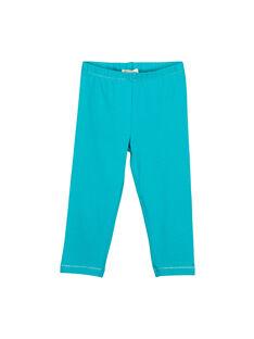 Girls' blue leggings FYAJOLEG8 / 19SI01G2D26202