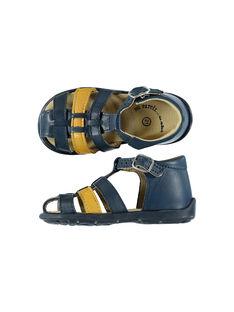 Baby boys' smart leather sandals. FBGSANDBI2 / 19SK38D1D0E070