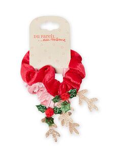Set of 4 matching elastic bows for child girl MYANOELA2 / 21WI01T2ELA303