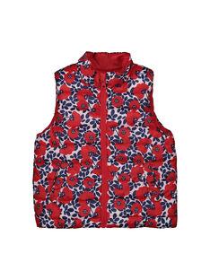 Girls' reversible padded jacket FACODOUNEEX / 19S901X3PAR099