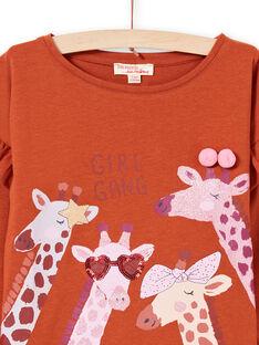 Baby Girl Caramel T-Shirt MACOMTEE3 / 21W901L2TML420