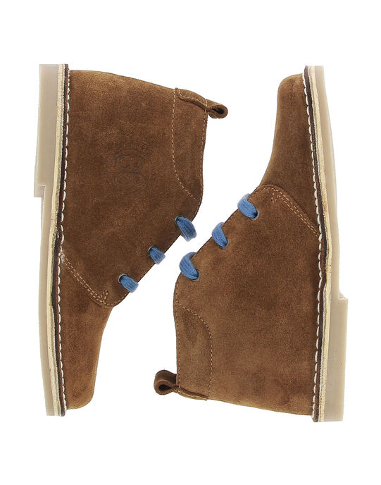 Boys' leather boots DGBOOTERS3 / 18WK36T8D0D804