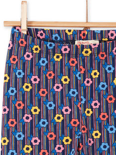 Multicolored leggings child girl LYAHALEG / 21SI01X1CAL070