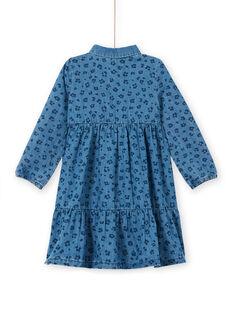 Cotton leopard print denim dress LABLEROB1 / 21S901J2ROBP274
