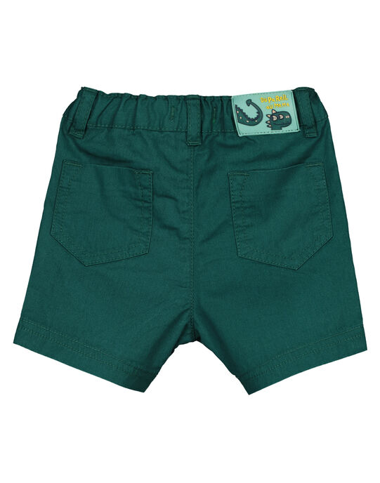 Baby boys' green shorts GUVEBER / 19WG1021BER608