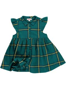 Baby girls' checked short-sleeved dress DIVEROB4 / 18WG0972ROB099