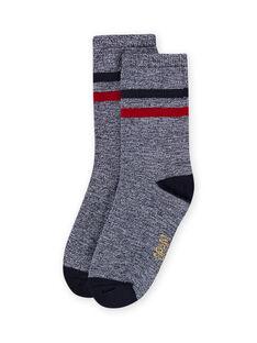 Baby boy's midnight blue striped socks LYOHACHO2 / 21SI02X2SOQ705