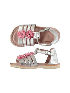 Baby girls' smart leather sandals FBFSANDCHIC / 19SK37C1D0E956