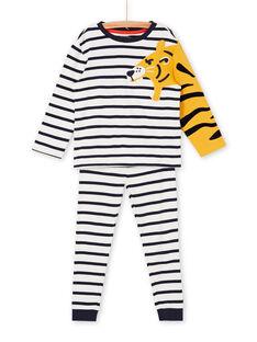 Blue and white striped blue and white pajama t-shirt and pants boy boy LEGOPYJBRA / 21SH1253PYJ001