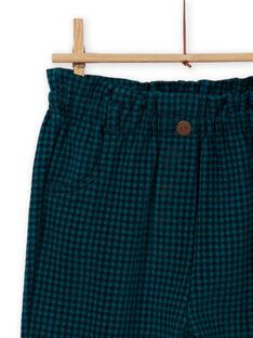 Girl's paper bag milano plaid pants MATUPANT / 21W901K1PAN070