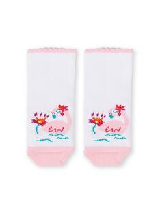 Pink and white socks baby girl LYIBONSOQ / 21SI09W1SOQ000