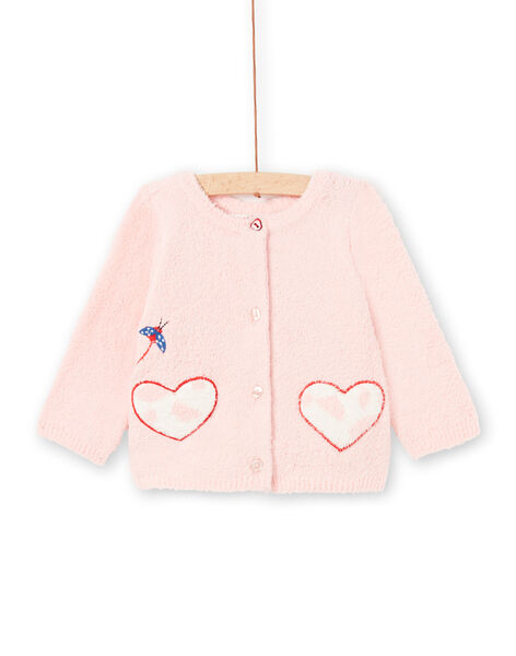 Baby girl pink 2 in 1 vest LICANCAR / 21SG09M2CARD326